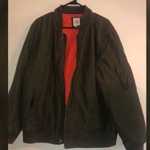 Men's Olive Green Bomber Jacket